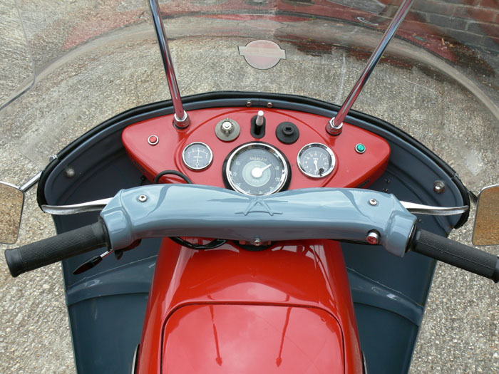 1959 Ariel Leader 250cc Handlebar Gauges