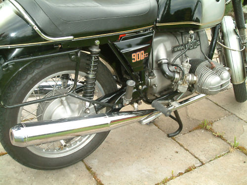 1974 bmw r90s rear wheel exhaust