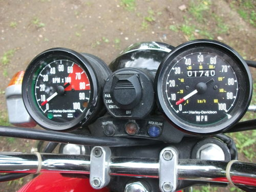 1978 HD Cagiva SST350 Gauges