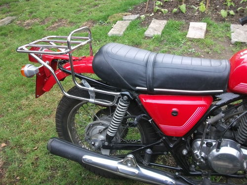 1978 HD Cagiva SST350 Rear Wheel Exhaust Seat