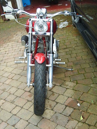 2002 Customised Harley-Davidson FXST Softail Front