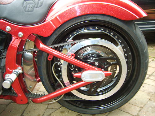 2002 Customised Harley-Davidson FXST Softail Rear Wheel