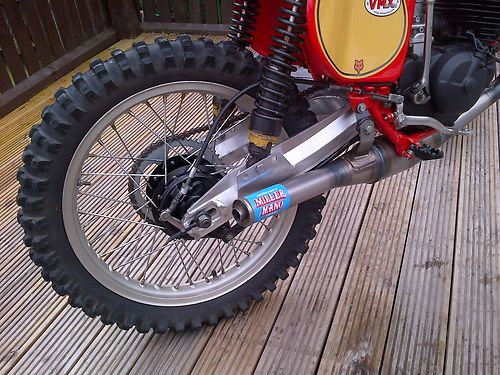 1976 Honda CR125 DMC Elsinore Race Bike Rear Wheel