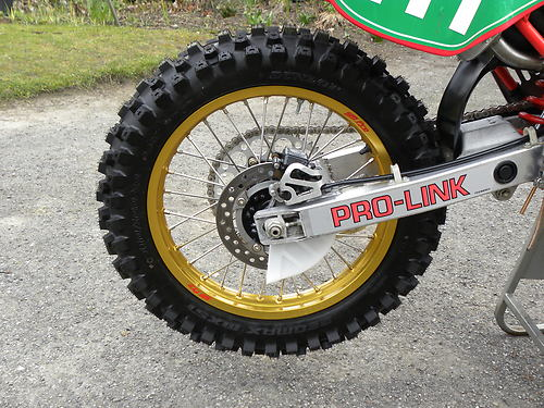 1989 honda cr250 rear wheel pro link