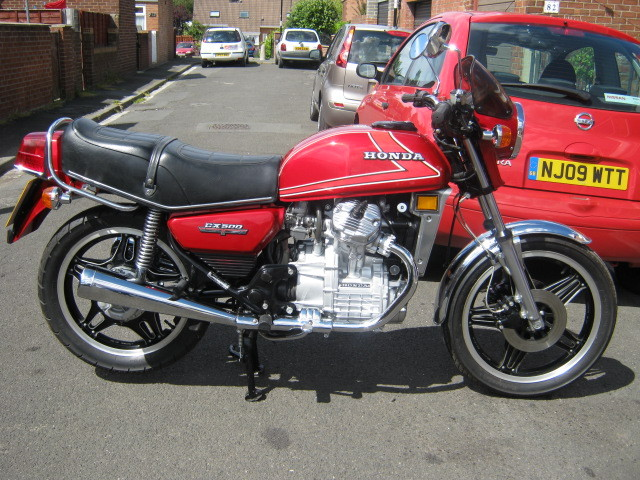 1981 honda red cx 500 1
