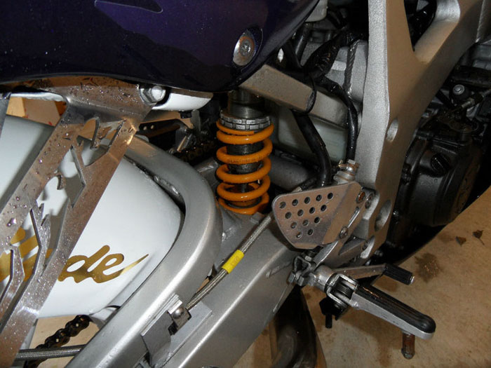 1999 honda cbr fireblade 900 rr x closeup suspension