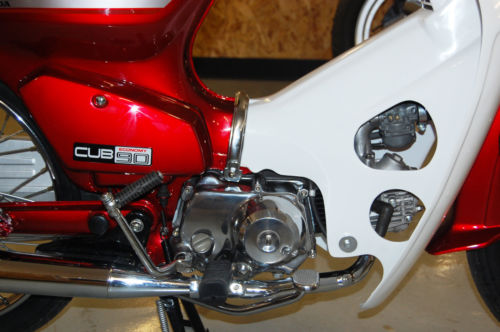 1991 Honda C90 Cub Side Closeup