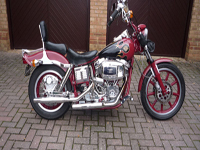 108 1981 harley-davidson shovelhead red icon