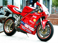 153 1999 ducati 996 bi posto super sports bike icon
