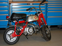 197 1970 agostini signed honda z50 monkey bike icon