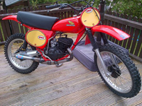 386 1976 Honda CR125 DMC Elsinore Race Bike Icon