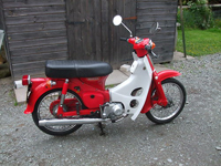 489 1979 Honda C70 Red Icon