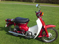 50 1997 honda c90 cub red icon