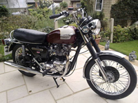 73 1977 triumph bonneville t140v export icon