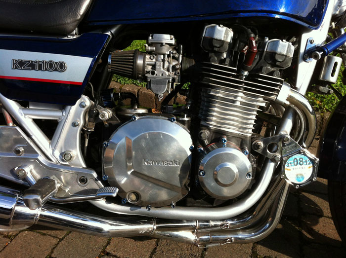 1981 Kawasaki KZ1100 Blue Engine
