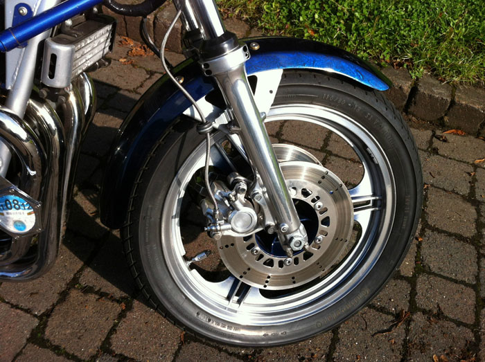 1981 Kawasaki KZ1100 Blue Front Wheel
