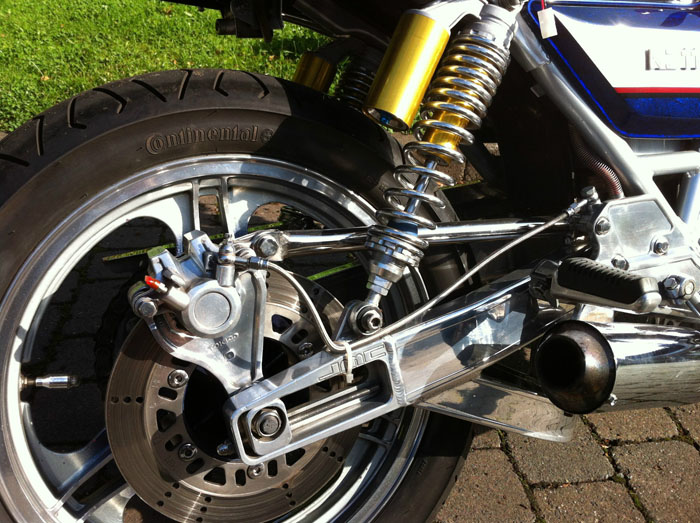 1981 Kawasaki KZ1100 Blue Rear Wheel Shock Brakes