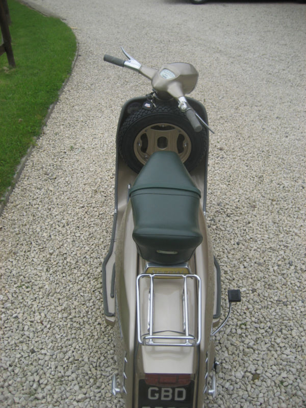 1964 lambretta chrome ring model golden special back