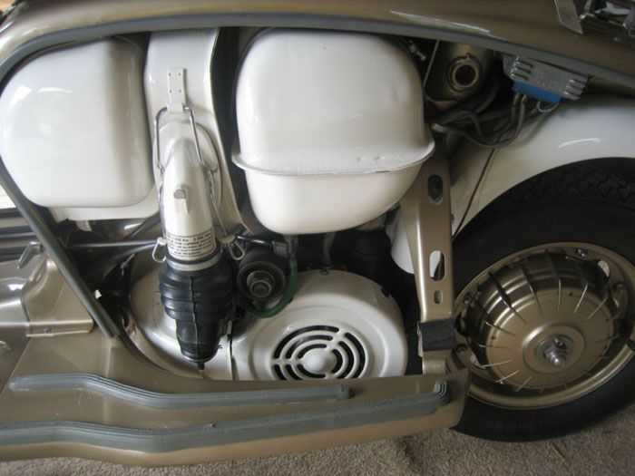 1964 lambretta chrome ring model golden special engine