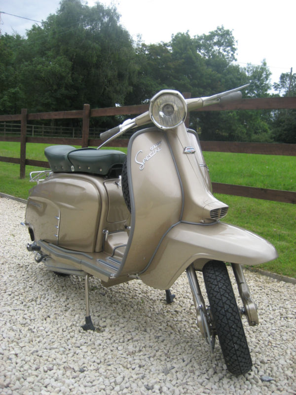 1964 lambretta chrome ring model golden special front