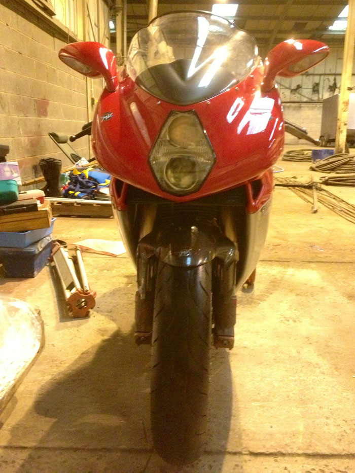 2000 MV Agusta 750F4 S Red Front