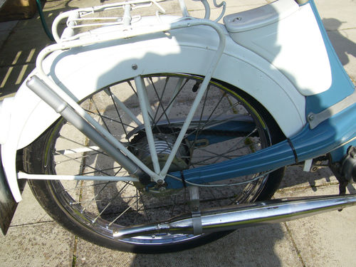 1963 NSU Quickly Moped 49CC Rear Wheel Guard Exhaust