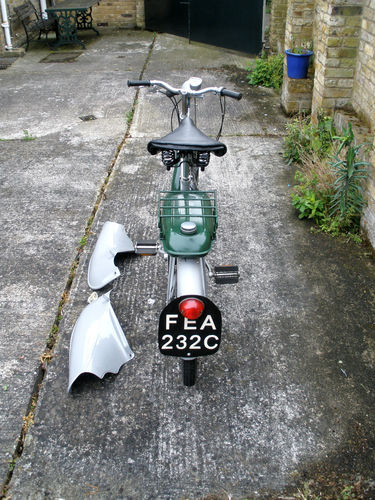 1965 Raleigh RM6 Runabout 49cc Moped Back