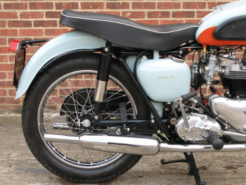1959 Triumph T120 Bonneville Rear Wheel Exhaust
