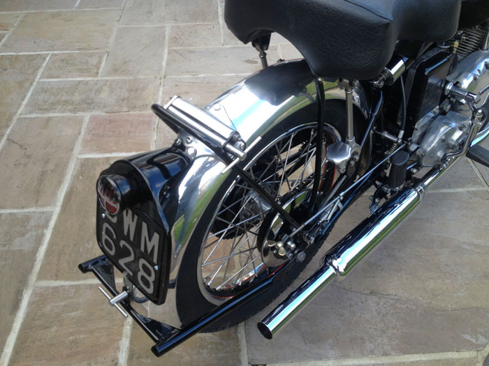 1950 Vincent Comet Rear Wheel Plate Exhaust