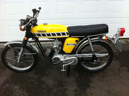 1976 Yamaha FS1-DX FS1E FS1 Fizzy Fissy Kenny Roberts Competition Yellow 1