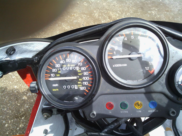 1992 Yamaha TZR 250 Gauges