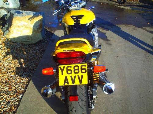 2001 yamaha xjr1300 1300cc yellow back